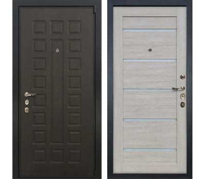 Входная стальная дверь Лекс 4А Неаполь Mottura Клеопатра-2 Ясень кремовый (панель №66)