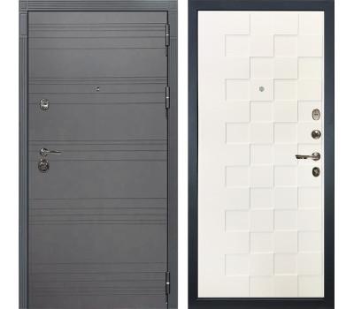 Входная металлическая дверь Лекс Сенатор 3К Софт графит / Белая шагрень Квадро (панель №71)