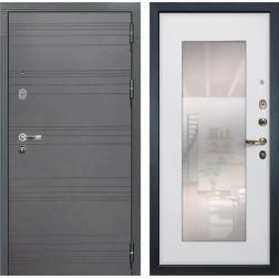 Входная дверь Лекс Легион 3К с Зеркалом Софт графит / Ясень белый (панель №37)