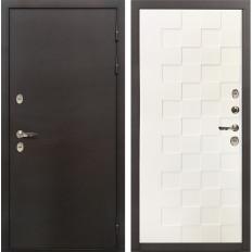 Входная дверь с терморазрывом Лекс Термо Сибирь 3К Белая шагрень Квадро (панель №71)