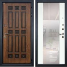 Входная дверь Лекс Гладиатор 3К Винорит Стиль с Зеркалом Ясень белый (панель №61)