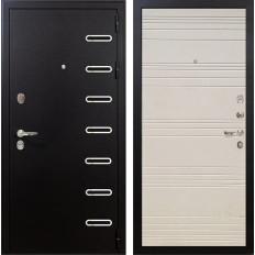 Входная дверь Лекс Витязь Дуб фактурный кремовый (панель №63)