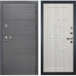 Входная стальная дверь Лекс Легион 3К Софт графит / Сандал белый (панель №44)