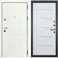 Входная дверь Лекс Легион 3К Шагрень белая / Ясень белый (панель №34)
