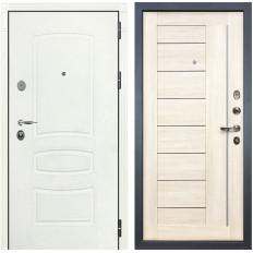 Входная дверь Лекс Легион 3К Шагрень белая / Верджиния Дуб беленый (панель №38)