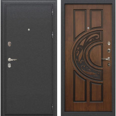 Входная дверь Лекс Колизей Винорит Голден патина черная (панель №27)