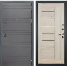 Входная дверь Лекс Сенатор 3К Софт графит / Верджиния Ясень кремовый (панель №40)