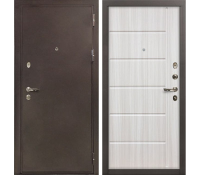Входная стальная дверь Лекс 5А Цезарь Сандал белый (панель №42)