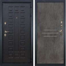 Входная дверь Лекс Гладиатор 3К Бетон тёмный (панель №82)