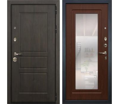 Входная стальная дверь Лекс Сенатор Винорит с Зеркалом Береза мореная (панель №30)