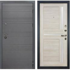 Входная дверь Лекс Сенатор 3К Софт графит / Баджио Ясень кремовый (панель №49)