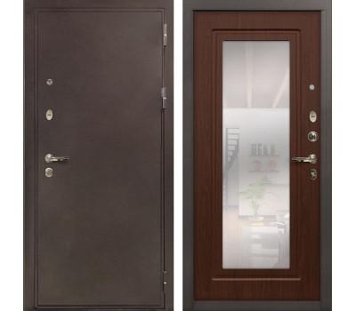 Входная стальная дверь Лекс 5А Цезарь с Зеркалом Береза мореная (панель №30)