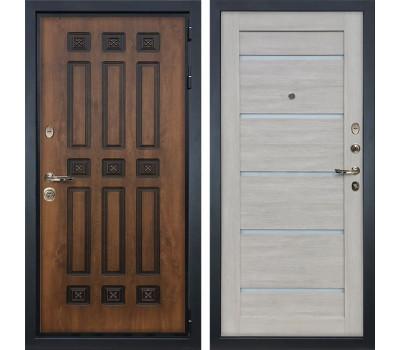Входная металлическая дверь Лекс Гладиатор 3К Винорит Клеопатра-2 Ясень кремовый (панель №66)
