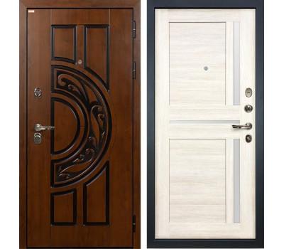 Входная стальная дверь Лекс Спартак Cisa Баджио Дуб беленый (панель №47)