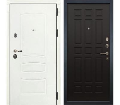 Входная металлическая дверь Лекс Сенатор 3К Шагрень белая / Венге (панель №29)