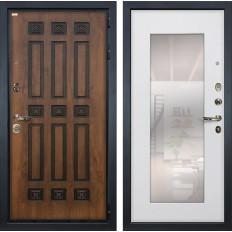 Входная дверь Лекс Гладиатор 3К Винорит с Зеркалом Ясень белый (панель №37)