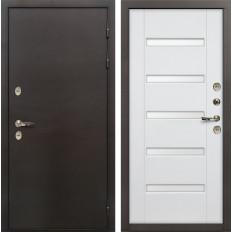 Входная дверь с терморазрывом Лекс Термо Сибирь 3К Ясень белый (панель №34)
