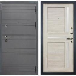 Входная металлическая дверь Лекс Сенатор 3К Софт графит / Баджио Ясень кремовый (панель №49)
