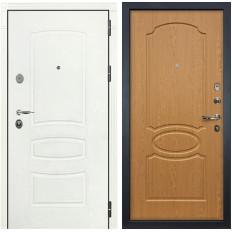 Входная дверь Лекс Легион 3К Шагрень белая / Дуб натуральный (панель №15)
