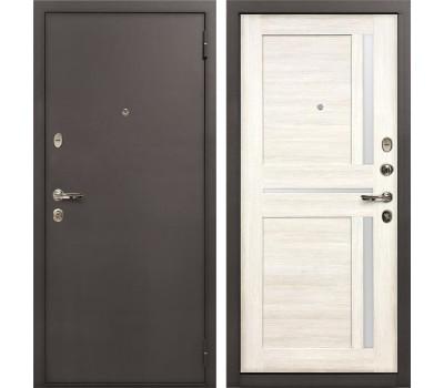 Входная стальная дверь Лекс 1А Баджио Дуб беленый (панель №47)
