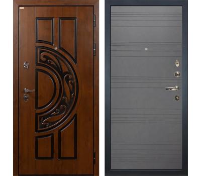 Входная стальная дверь Лекс Спартак Cisa Графит софт (панель №70)