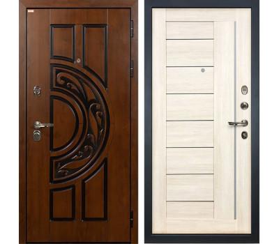 Входная стальная дверь Лекс Спартак Cisa Верджиния Дуб беленый (панель №38)