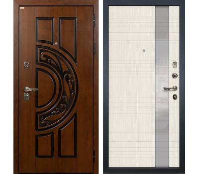Входная стальная дверь Лекс Спартак Cisa Новита Дуб беленый (панель №52)