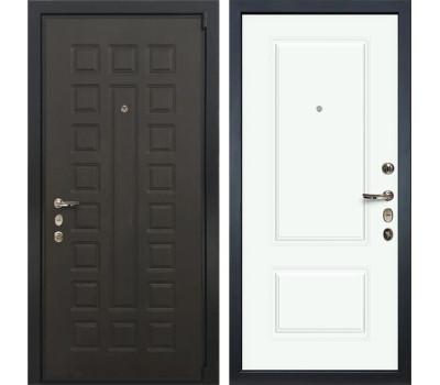 Входная стальная дверь Лекс 4А Неаполь Mottura Вероника-1 Шпон Эмаль Белая (панель №55)