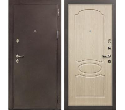 Входная стальная дверь Лекс 5А Цезарь Дуб беленый (панель №14)