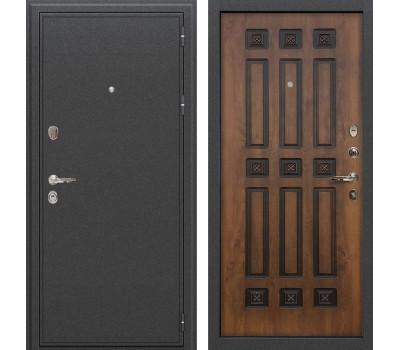 Входная стальная дверь Лекс Колизей Винорит Голден патина черная (панель №33)