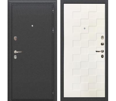 Входная стальная дверь Лекс Колизей Белая шагрень Квадро (панель №71)