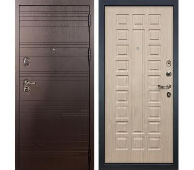 Входная стальная дверь Лекс 3К Легион Дуб беленый (панель №20)
