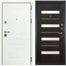 Входная дверь Лекс Сенатор 3К Шагрень белая / Сицилио Венге (панель №51)