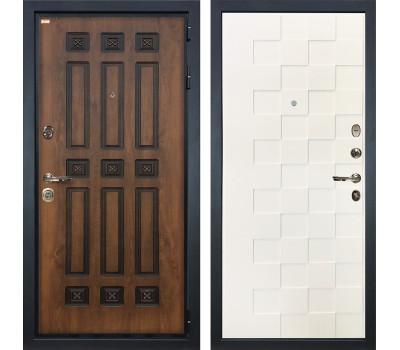 Входная металлическая дверь Лекс Гладиатор 3К Винорит Белая шагрень Квадро (панель №71)