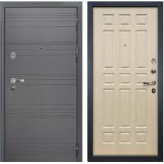 Входная дверь Лекс Легион 3К Софт графит / Дуб беленый (панель №28)