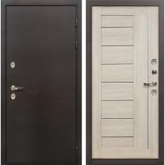 Входная дверь с терморазрывом Лекс Термо Сибирь 3К Верджиния Ясень кремовый (панель №40)