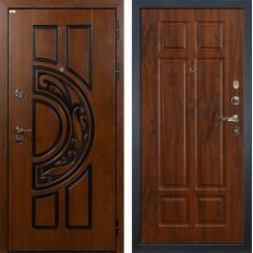 Входная дверь Лекс Спартак Cisa Винорит дуб тёмный (панель №90)