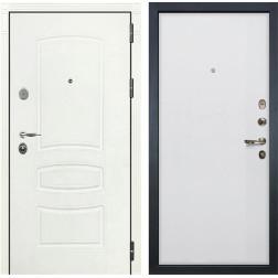 Входная стальная дверь Лекс Легион 3К Шагрень белая / Ясень белый (панель №62)