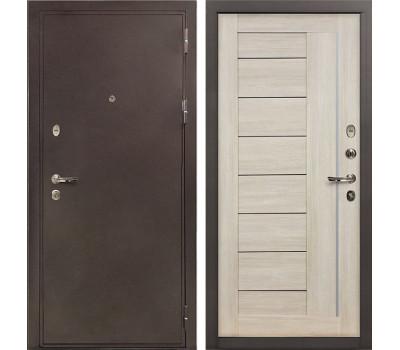 Входная стальная дверь Лекс 5А Цезарь Верджиния Ясень кремовый (панель №40)
