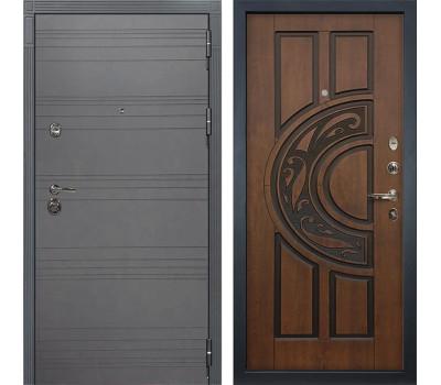 Входная металлическая дверь Лекс Сенатор 3К Софт графит / Голден патина черная (панель №27)