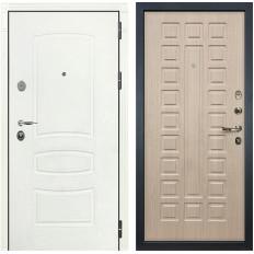 Входная дверь Лекс Легион 3К Шагрень белая / Дуб беленый (панель №20)