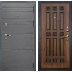 Входная дверь Лекс Легион 3К Софт графит / Голден патина черная (панель №33)
