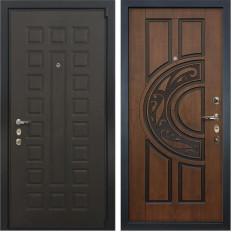 Входная дверь Лекс 4А Неаполь Mottura Винорит Голден патина черная (панель №27)
