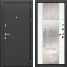 Входная дверь Лекс Колизей Стиль с Зеркалом Ясень белый (панель №61)