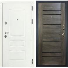 Входная дверь Лекс Легион 3К Шагрень белая / Терра Графит шале (панель №64)