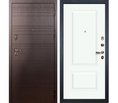 Входная стальная дверь Лекс Легион 3К Вероника-1 Эмаль Белая (панель №55)