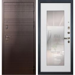 Входная стальная дверь Лекс Легион 3К с Зеркалом Ясень белый (панель №37)