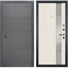 Входная дверь Лекс Сенатор 3К Софт графит / Новита Дуб беленый (панель №52)