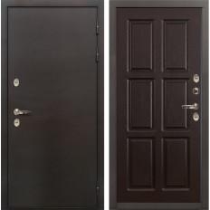 Входная дверь с терморазрывом Лекс Термо Сибирь 3К Ясень шоколад (панель №84)