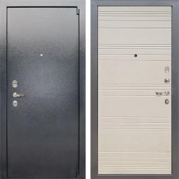 Входная стальная дверь Лекс 3 Барк (Серый букле / Дуб фактурный кремовый) панель №63